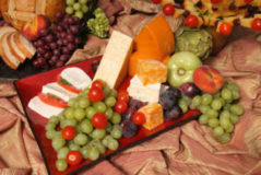 Fruit and cheese is good any time!