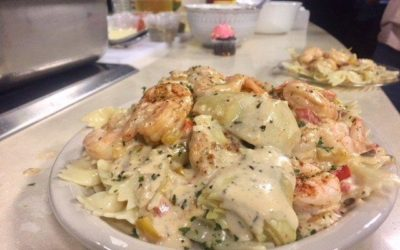 Cajun Shrimp with Artichoke Cream Sauce